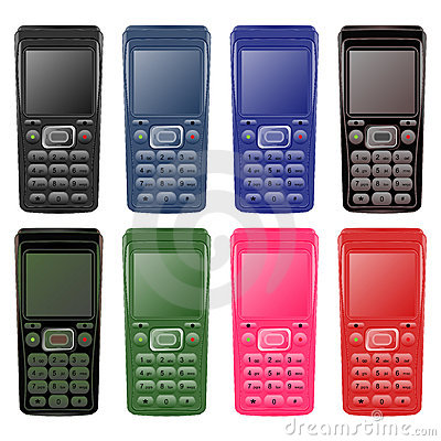 Set of mobile phones