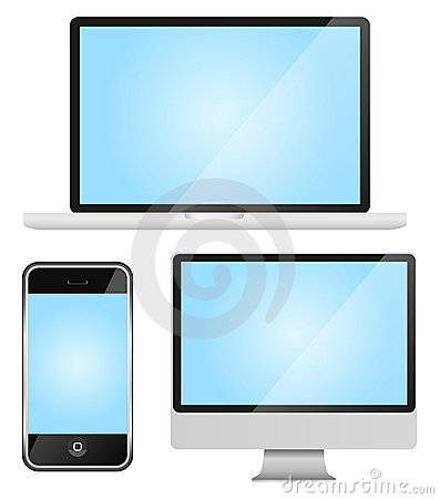 Set of modern gadgets Editorial Stock Photo