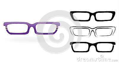 Set of modern glasses