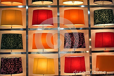 Set of modern table lamps