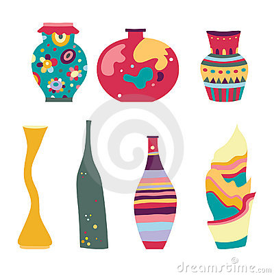 Set of Modern Vases