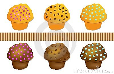 Set Muffin colored, vector