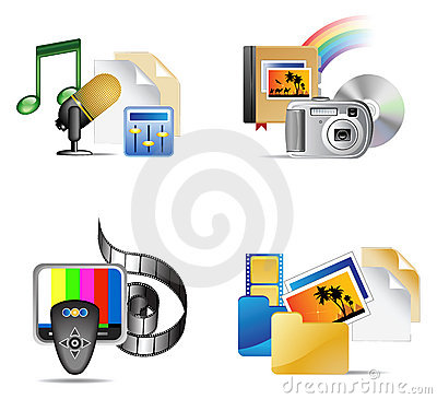 Set of Multimedia Iinternet Icon