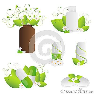 Natural herbal pills