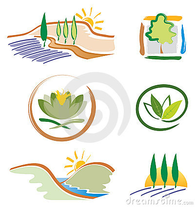 Set of Nature Icons for Logo Design