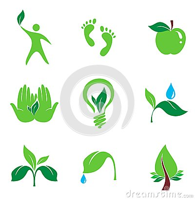 Set of nature and organic  icons