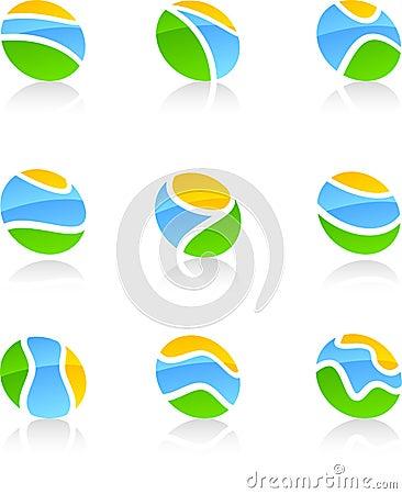 Set of nature symbols.