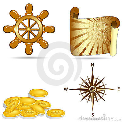 Set of  the nautical icons
