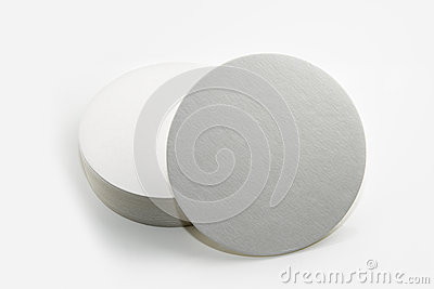 Set of new round paper coasters