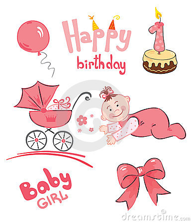 A Set Of Newborn (for Girl) Stock Image - Image: 15031531