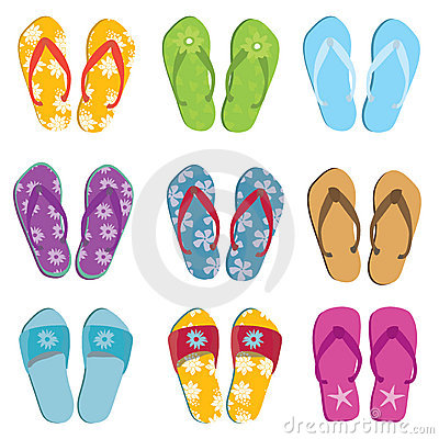 Set of nine flip flops