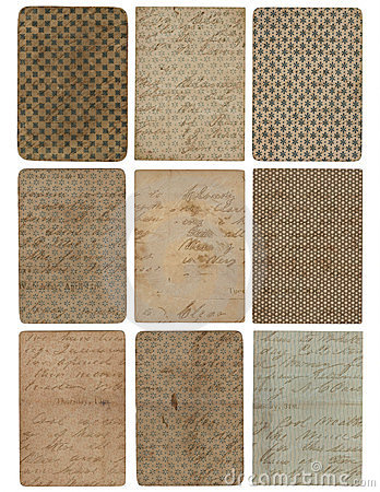 Set of nine vintage pattern texture backgrounds