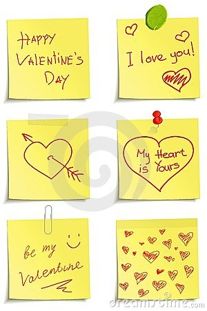 Set Of Notes To Valentine Day Royalty Free Stock Image - Image: 22975376