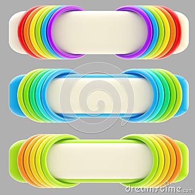 Set odizolowywającego sztandaru trzy szablonu