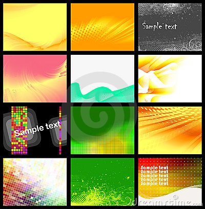 Free Set Of 12 Backgrounds, Vector Stock Image - 16756041