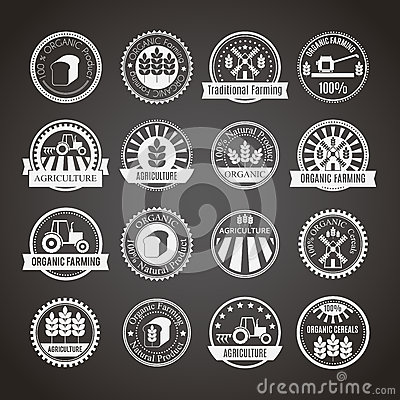Free Set Of 16 Round Agricultural And Farming Badges Royalty Free Stock Image - 59095916