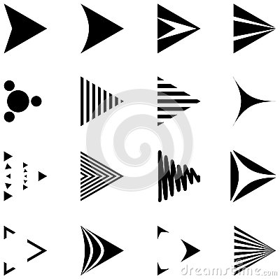 Free Set Of 16 Simple Arrows Icons Stock Photo - 31204250