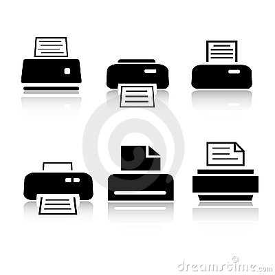 Free Set Of 6 Printer Icons Stock Images - 6687184
