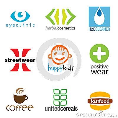 Free Set Of 9 Brand Designs Stock Photos - 10634313