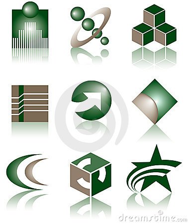 Free Set Of 9 Logos Stock Photo - 5639950