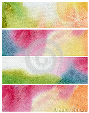 Free Set Of Abstract Watercolor Painted Background. Paper Stock Photography - 44197972