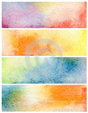 Free Set Of Abstract Watercolor Painted Background. Paper Stock Photography - 44198062