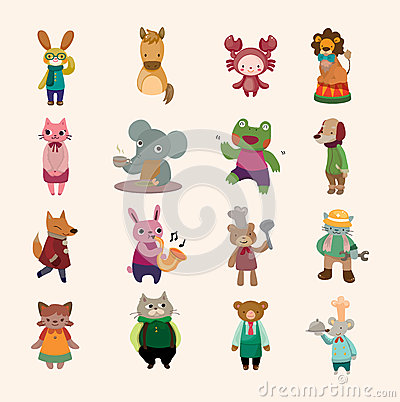 Free Set Of Animal Icon Royalty Free Stock Photo - 27631695