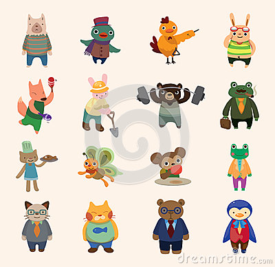 Free Set Of Animal Icons Stock Photography - 27631692