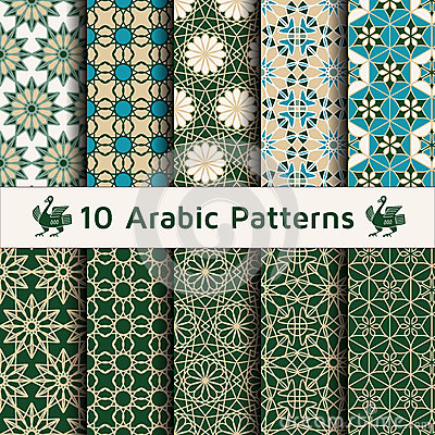 Free Set Of Arabic Seamless Patterns. Royalty Free Stock Images - 62063869
