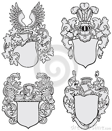 Free Set Of Aristocratic Emblems No3 Stock Image - 29439021