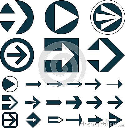 Free Set Of Arrows Stock Photos - 39289713