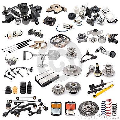 Free Set Of Auto Parts Royalty Free Stock Photo - 16829375