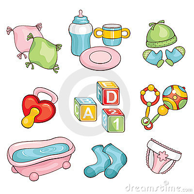 Free Set Of Baby Things Stock Images - 18570214