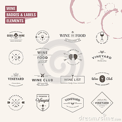 Free Set Of Badges And Labels Elements For Wine Stock Image - 43830681