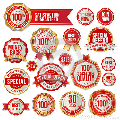 Free Set Of Badges And Stickers Royalty Free Stock Photos - 26866858
