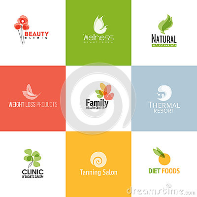 Free Set Of Beauty And Nature Logo Templates And Icons Stock Image - 48814211