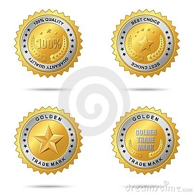 Free Set Of Best Choice Golden Labels. Royalty Free Stock Photos - 11465978