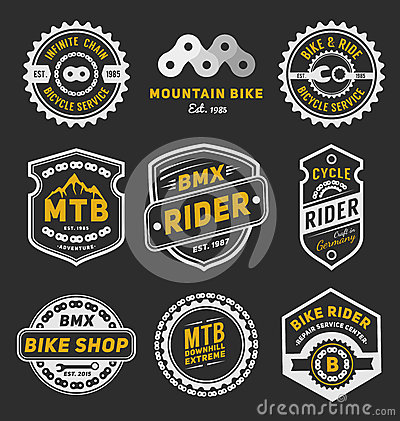 Free Set Of Bicycle Badge Logo Template Design Stock Image - 58338511