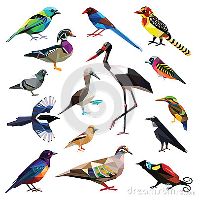 Free Set Of Birds Royalty Free Stock Photo - 58838705