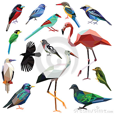 Free Set Of Birds Royalty Free Stock Images - 58886309