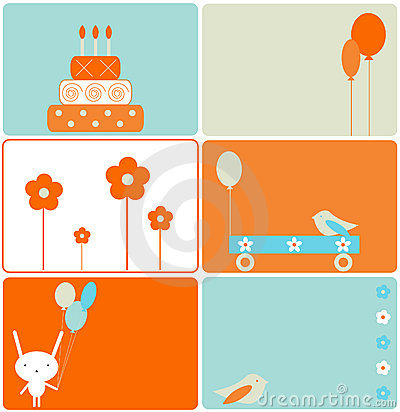 Free Set Of Birthday Designs Royalty Free Stock Images - 7237949