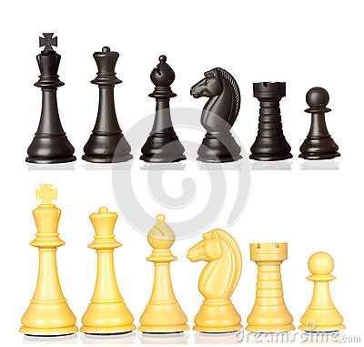 Free Set Of Black And White Chess Pieces Royalty Free Stock Photography - 91196337