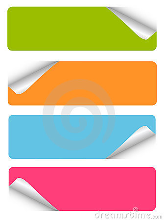 Free Set Of Blank Stickers Royalty Free Stock Photography - 18399837