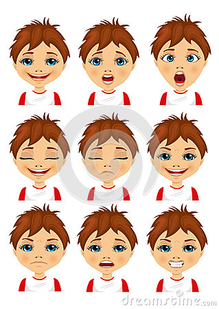 Free  Set Of Boy Avatar Expressions Royalty Free Stock Photography - 77091507