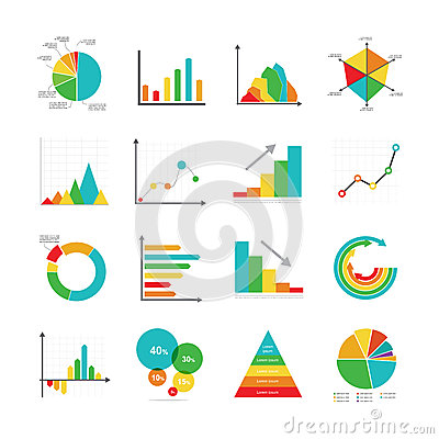Free Set Of Business Marketing Dot Bar Pie Charts Diagrams And Graphs Royalty Free Stock Image - 54288276