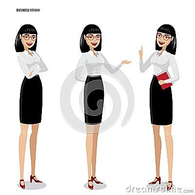 Free Set Of Businesswomen On White Background Royalty Free Stock Images - 61467159