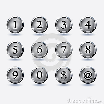Free Set Of Button With Number Royalty Free Stock Photo - 32069135