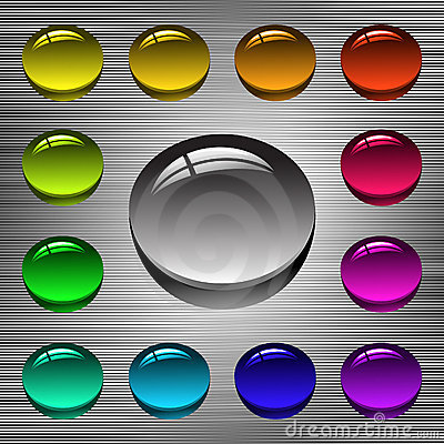 Free Set Of Buttons Stock Photography - 6203952