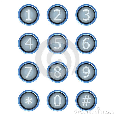 Free Set Of Buttons With Number Royalty Free Stock Image - 53446316