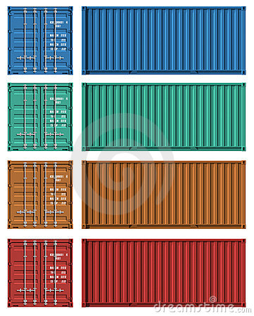 Free Set Of Cargo Container Templates Stock Image - 16331981